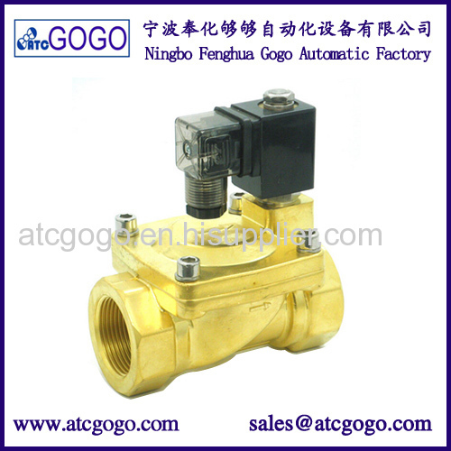 Pilot diaphragm 2 way solenoid valve for water