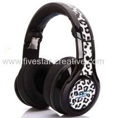 SMS Audio Street by 50 DJ Pro Performance Over-the-ear Headphones SMS Audio Limited Edition Leopard white
