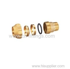 male threaded brass compression coupling fittings