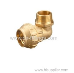 brass threaded elbow compression fittings