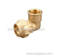 brass female threaded elbow compression fittings