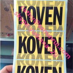 rotary printing vinyl alphabet stickers