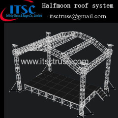 Halfmoon roof truss system in Trinida and Tobago