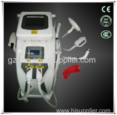 4 in 1 Nd Yag Laser Tattoo removal with Elight (IPL+RF) hair removal machine
