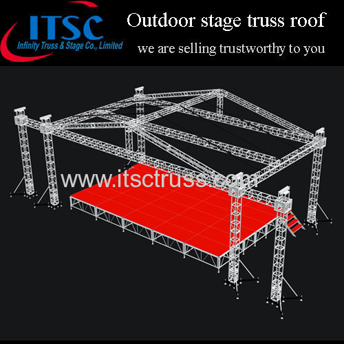 30ftx30ft sound light truss stage pyramid roof from china for Roof truss sign