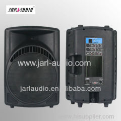 Professional 2-way active plastic speakers with USB/SD/BT