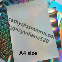 A4 size sheets high glossy easy destructible vinyl label material