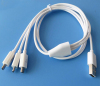 1 Meter 3 in 1 micro usb charger cable
