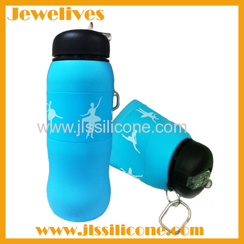 fashionable and reusable silicone sports bottle