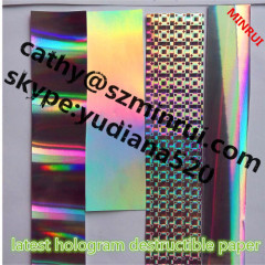 2014 the latest colorful hologram eggshell sticker shenzhen anti-counterfeiting