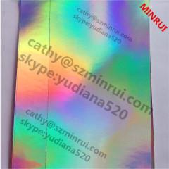 vinyl holgraphic hologram destructible paper