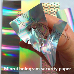 anti-counterfeit hologram sticker paper