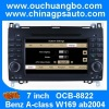 Ouchuangbo Car Radio consola central Multimedia Radio DVD Player for Mercedes Benz A-class W169 ab2004