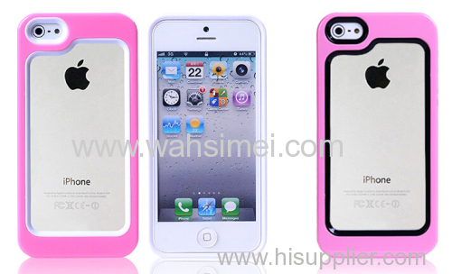 phone case PC and silicone phone case two in one case for iPhone 5/5s China manufacturer wholes
