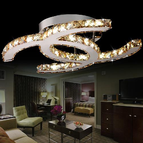 Hot sale modern fashion LED crystal light fixtures for sale