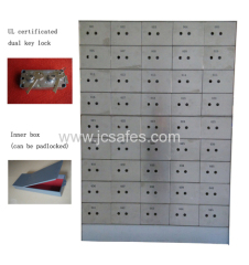 45 stainless steel doors safe deposit box
