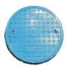 Gas pipe inspection round GRP manhole cover
