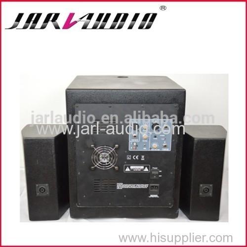 pro active speaker system/active subwoofer with two satellite speaker /active combo speaker system