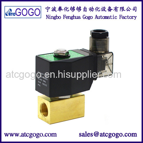 china brand oil valve 2 way fuel solenoid male thread 1/4 1/8 inch