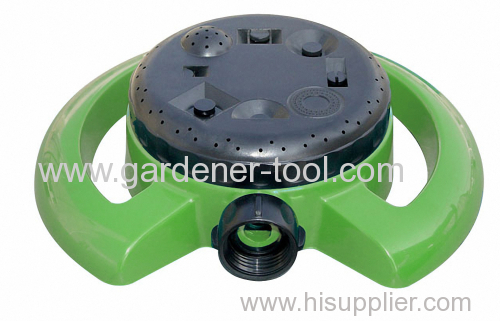 Plastic 8-way water lawn sprinkler