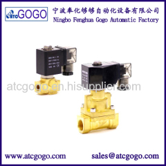 High temperature solenoid valve TEFLON seals
