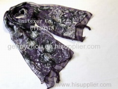 Double- layer polyester scarf Printing scarf