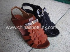 Lady shoes with full grain leather China