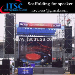 Scaffolding for Speaker in outdoor events