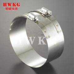 Equal-diameter flexible coupling (clamps)