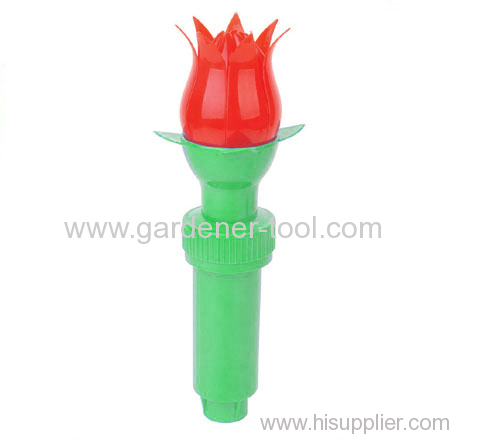 plastic garden water flower sprinkler