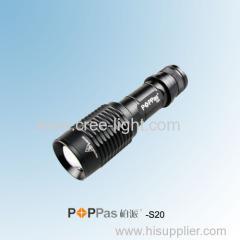Mini 3W CREE XP-E R2 Hight Power Aluminum LED Flashlight POPPAS-S20