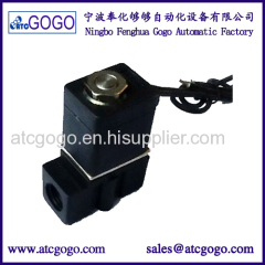 "Mini plastic water gas air pneumatic solenoid valve directly acting 1/4"" 1/8"""