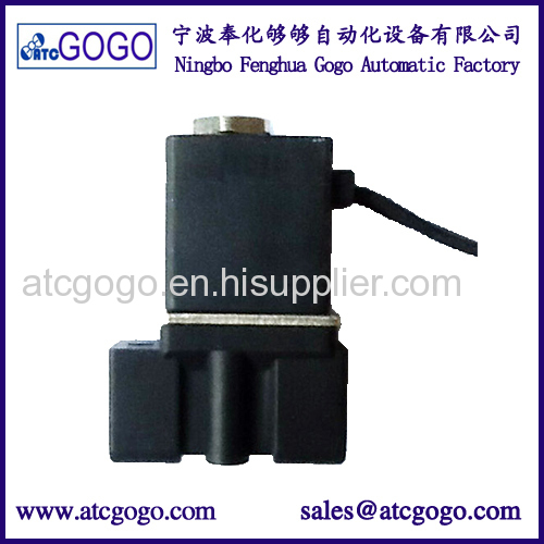 2 way direct acting liquid plastic solenoid valve 1/4 1/8 BSP plug