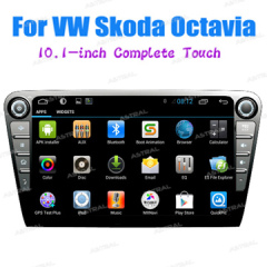 Factory Wholesale In Car TV Multimedia Player Skoda 10inch Navigation Android 4.2 System