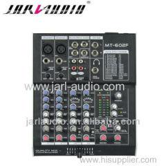 pro 6channel audio mixer /DJ mixer with dsp digital effector