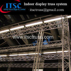 Indoor truss system for exhibition booths and display