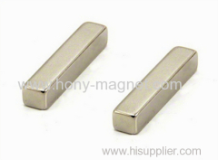 Zn coating sintered ndfeb rectangular bar magnets
