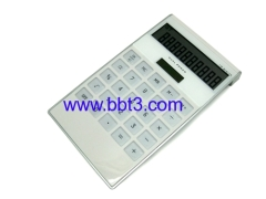 Promotional dual power way white color gift calculator