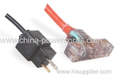3 conductor connector with indicator light and overcurrent protector