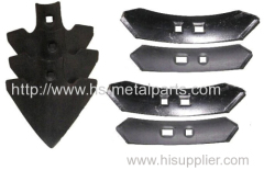 Agricultural machinery parts hoe share / cultivator points