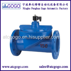Large flow water flange solenoid valve cast iron 4 inch 5 inch 6 inch 8 inch