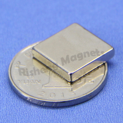 N40 Grade 15mm length X 15mm width X 3mm thickness Block Permanent Neodymium Magnets