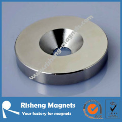 Strong countersunk hole ring Neodymium magnets