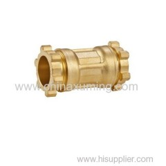 brass equal coupling compression fittings for pe pipes