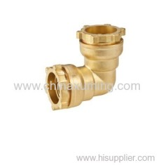 brass elbow compression fittings for pe pipes