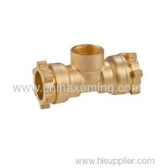 brass female tee compression fittings