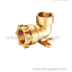brass female elbow with wall plate fittings