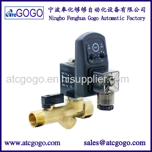 2 way brass electro mechanical water valve pipe timer for drain valves 12v 24v 110v 220v