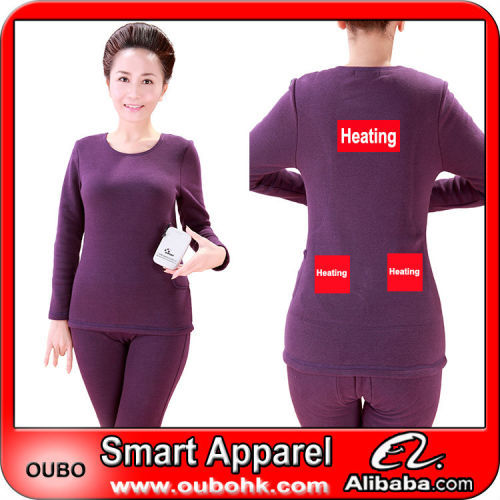2014 Ladies Sexy Heated Thermal Underwear With Electric Heated ...