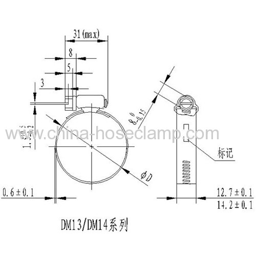 Worm Drive Hose Clamp-Perforation